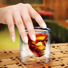 Hot Special Transparent Crystal Skull Head Shot Glass25ml 75ml 150ml 250ml Cup For Whiskey Wine Vodka Home Drinking Ware(China)