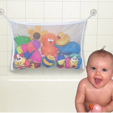 1pc/lot Folding Baby Bathroom Hanging Mesh Bath Toy Storage Bag Net Suction Cup Baskets Shower Toy Organiser Bags YL675803