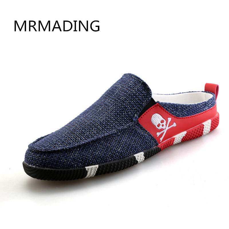 Fashion Summer Style Soft Men Loafers High Quality Shoes Men Flats Gommino Driving Half Slippers Sandals Shoes Casual Linen<br><br>Aliexpress