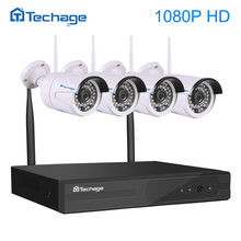 Techage 4CH 1080P Wireless NVR Kit Wifi CCTV System IR Outdoor Waterproof 1080p 2.0MP IP Camera P2P Video Security Surveillance