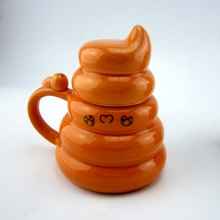 Novelty Faeces Ceramic Milk/Tea Mug Creative Coffee Cup Valentines Gift Free Shipping SH1004
