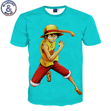 Mr.1991INC 2017 Funny T shirt Mens 3D Print Tees Tops Anime Cartoon One Piece Luffy T-shirt Summer Short Sleeve Brand Clothing