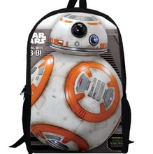 13inch Star Wars Backpack movie the force awaken Darth Vader Yoda Jedi primary School Bag Kid's men primary bags custom made