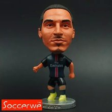 "Soccer Football Player Star 10# IBRAHIMOVIC (PSG-2016) 2.5"" Action Dolls Toy Figurine(China)"