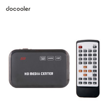 Full HD 1080P Media Player Center RM/RMVB/AVI/MPEG Multi Media Video Player with HD YPbPr VGA AV USB SD/MMC Remote Control