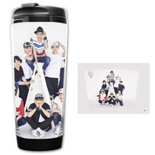 HOT SALE Kpop EXO group Models Double Insulation Plastic Good Quality Mug Coffee Space mugs BZ993 free shipping