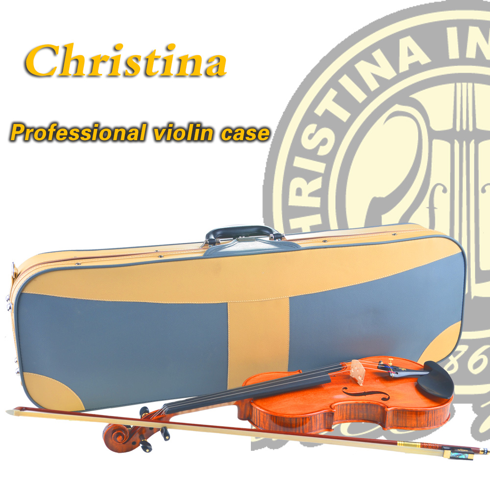 High Quality Italy Christina violin case,hygrometer waterproof case for wood violino 3/4,4/4,leather fiddle case accessories<br><br>Aliexpress