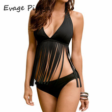 2017 strappy bikini print Fringe cut out biquines 2017 Deep V swimwear cheap bikinis for sale ladies swimsuit thong swim suit