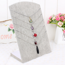 booth necklace pendant display shelf Receive jewelry photography props L model necklaces display frame velvet pendants rack