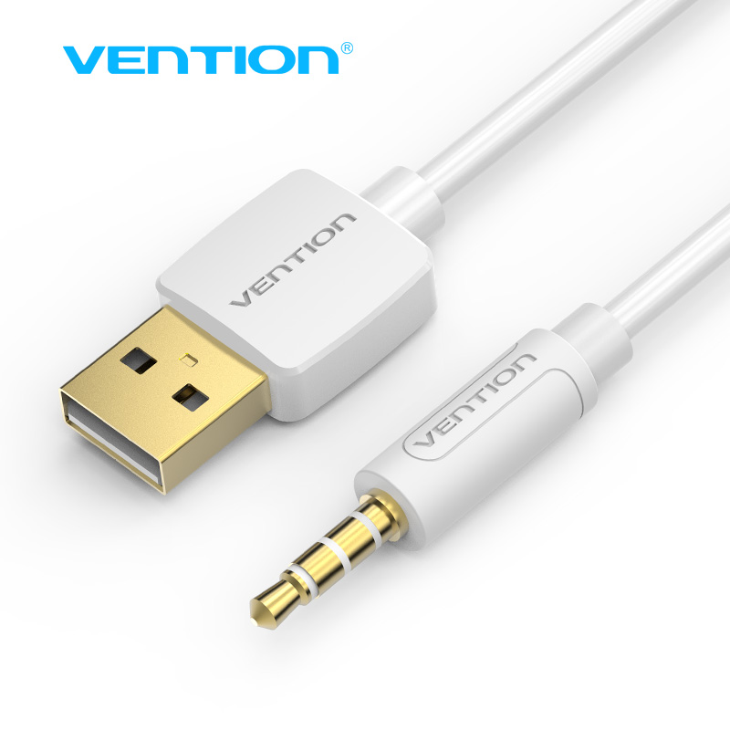 Vention USB AUX Cable 0.25m 0.5m 1m USB to Jack 3.5mm Charger Data Cable For Apple iPod Shuffle 4th 5th 6th 7th Jack to USB Cord(China (Mainland))
