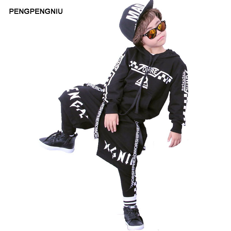 PENGPENGNIU Boys Girls Three Piece Street Dance Clothing Set Kids 3 pcs Sport Set for Child Teenagers Sports Suit Size 4 to 18<br>