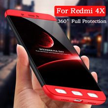 UTOPER Full Protector Case For Xiomi Xiaomi Redmi 4x Case Fashion Hard Hybrid Plastic Cover For Xiaomi Redmi 4x 4 x Phone Case(China)