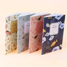 4 PCS/Set Cute Kawaii Cartoon Animal Notebook Lovely Flower Notepad for Kids Student Gift Korean Stationery