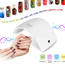 SUNUV SUN9C PLUS 36W UV LED Nail lamp 18 LEDs Nail dryer for All Gels 30s/60s button Polish Nail Dryer Machine Manicure Tool