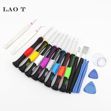 17 in 1 Mobile Phone Cellphone Opening Repair Tools Screwdrivers Set Kit Precision For iPhone Samsung HTC Tablet Hand Tools