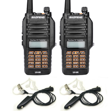 New Baofeng UV-9R Handheld Walkie Talkie 8W UHF VHF Dual Band IP67 Waterproof Ham Two Way Radio For Hunting With Earphone 2PCS