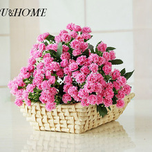 30 Heads Cheap Artificial Lilac Fake Mini Flower Bouquet For Wedding DIY Arrangement Home Table Garden Marriage Decoration bulk