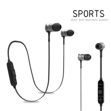 Bluetooth 4.1 Magnet Earphone In-ear Headset Sport Running Music Wireless Metal Headphone Earbuds with Microphone For Phone Ipad