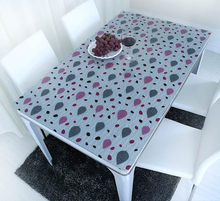 PVC crystal plate glass cloth color soft waterproof hot printing table mats opaque plastic table cloth