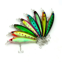 Shopping full $15 Can buy Pesca 8 Colors Hard Fishing Bait 11.3cm 13.6g Minow Carp Fly Fishing Lure Set