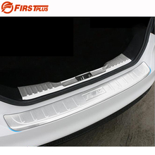 For Ford Focus 2015 2016 2017 Rear Bumper Protector Car Boot Trim Rearguards With 3M Sticker Trunk Guard Sill Plate Scuff Cover