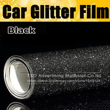 10/20/30/40/50/60X152CM Per Lot Black glitter Vinyl sticker New Car Styling matte sanding Glitter Vinyl Film Body Wrap