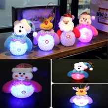 Cute Christmas Doll Color Changing LED Night Light Doll Toy Christmas Tree Ornaments adornos navidad 2017 New Year Gift