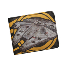 2016 Hot Selling Cartoon Movie Wallet Star Wars Spaceship Millennium Falcon Wallet Short Leather Bifold Men Purse Vintage Wallet