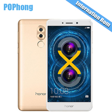 International Firmware Huawei Honor 6X 4GB RAM 64GB/32GB ROM Kirin 655 Octa Core Mobile Phone 5.5 Inch Fingerprint Android 6.0 P(China)