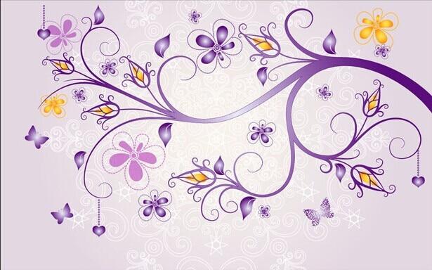 Custom photo wallpaper 3D flower wall painting TV living room bedroom dining room background purple fresh flower wallpaper mural<br>