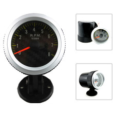 52mm Tachometer RPM Car Meter Gauge + Pod Holder 0~8000 RPM Meter White LED Auto Gauge(China)