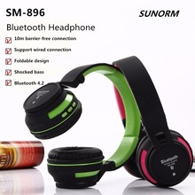 (Give the child the best gift) The new SM-896 folding wireless Bluetooth stereo music headset shock heavy bass phone headset