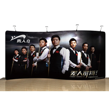 Portable 20ft S tension fabric trade show display backdrop wall booth exhibits pop up banner stand with custom graphic