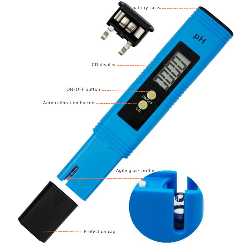 by dhl/fedex 100pcs/lot Pocket Pen Water PH Meter Digital Accuracy 0.01 Automatic Calibration Tester for Aquarium Pool 40%off 5