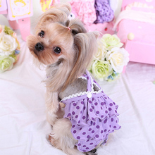 Dot Print Pet Dog Panties Strap Sanitary Adjustable Dog Underwear Diapers Physiological Pants Puppy Shorts(China)