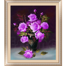 New 40*48cm  DIY 5D Rose Flower Crystal Diamond Embroidery Painting Flower Cross Stitch Home Decor Craft-Y102