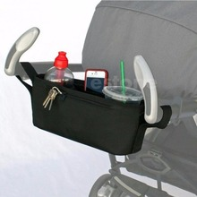 New Pram Stroller Drink Parent Tray Console Organizer Double Cup Holder Phone Jogger