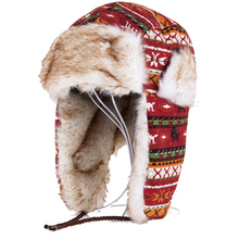 winter bomber hats men Russian new faux fur Earmuffs brand warm lei feng caps women ski thickened cold-resistant Snow earflaps(China)