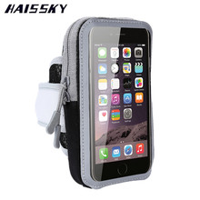 HAISSKY Running Bag Brassard Arm Band Case For iPhone 6 6s 7 Plus Samsung S8 Plus Xiaomi redmi Note 3 Pro Huawei P9 P10 Plus