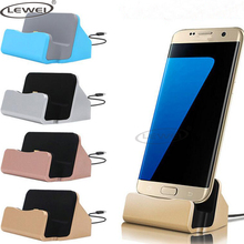 LEWEI Android Dock Charger Micro USB Type-C Docking Stand Station Charging Sync Dock For Samsung S7 S8 Plus Note 8 Huawei Xiaomi(China)