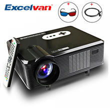 Excelvan CL720D LED Projector 3000 Lumens 1280 x 800 HD LCD Projector Digital TV Interface For Cinema Home Entertainment PK GP90