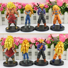 "Dragon Ball Z 13cm/5"" Anime Dragon Ball Z PVC Figures Toy Super Saiyan Monkey King Brogli Dragonball Collection(China)"