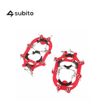 SUBITO 11 Teeth Children Hiking Climbing Crampons  Ice Snow Traction Shoe Boot Cleats Non-Slip Gripper Spikes Snow Chains