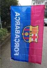 2017 Hot Sale Peluqueria Flying bag poster Barcelona Barca Football Team 3 X 5 Feet Flag Polyester Big 90 150 Cm Party