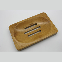 1 PC Bamboo Soap Tray Holder Storage Soap Holder Rack Plate Box Container For Bath Shower Plate Wooden Bathroom Accessories(China)
