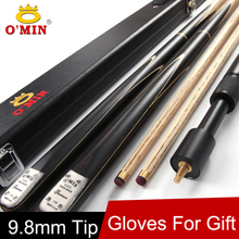 O'MIN Brand 3/4 Snooker Cue Stick 9.8mm Tip 3 4 Snooker Cues Case Set China Fast Shipment(China)