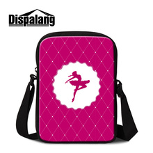 Dispalang American luxury stylish messenger bag for women cute ballet girl printing mini flap for girls new small crossbody bags