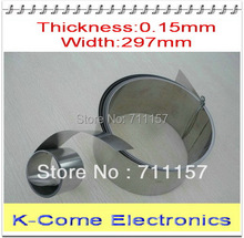 0.15mm Thickness 297mm Width Stainless Steel Sheet Plate Leaf Spring Stainless Steel Foil The Thin Tape Free Shipping(China)