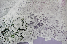 free shipping  White milk silk fabrics bilateral positioning leaves flowers senior apparel lace fabric screens