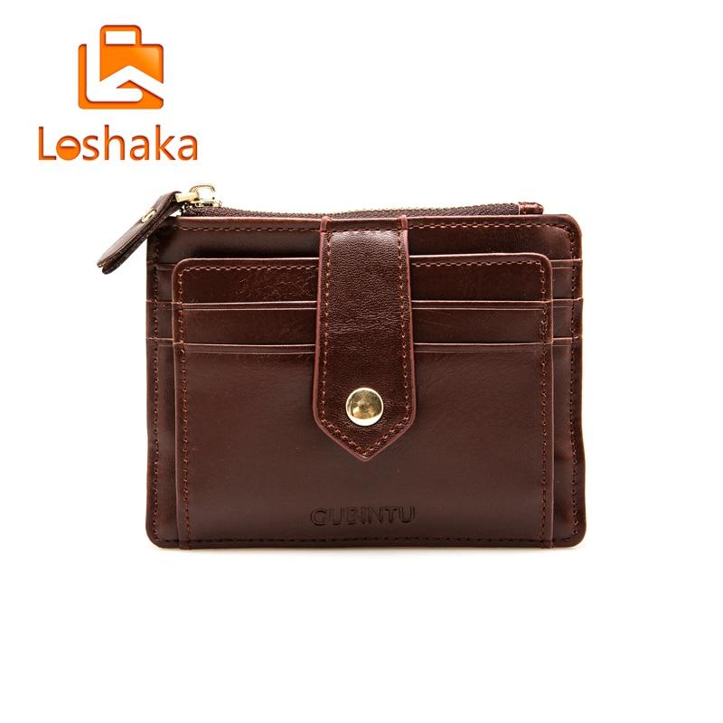 LOSHAKA Men PU Leather Wallet Male Female Front Pocket Card Holder Purse Slim Causal Business Wallets Women Mini Coin Pocket<br><br>Aliexpress